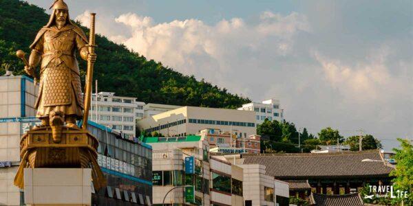 Korean Liberation Day Yi Sun Shin Statue in Yeosu South Korea Travel Guide