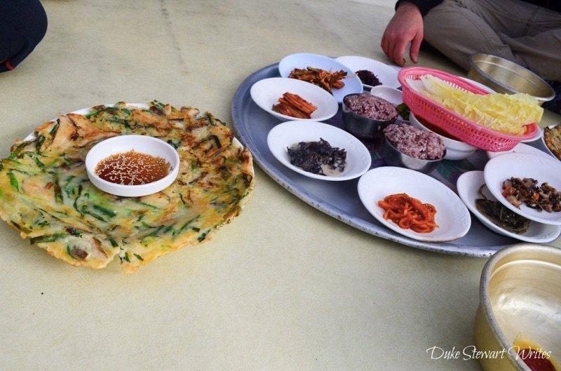 Food Mid-Hike on Jogye San in Suncheon, South Korea