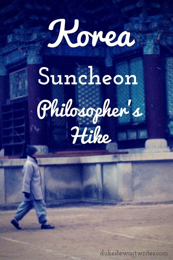Korea, Suncheon Jogye San Philosopher's Hike