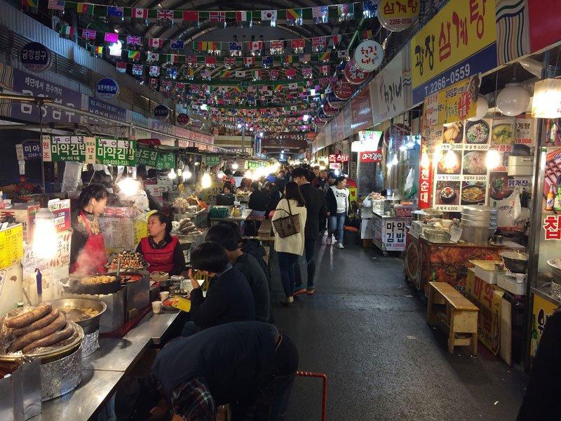 Seoul South Korea Gwangjang Market Photo by Kars Alfrink via Flickr CC
