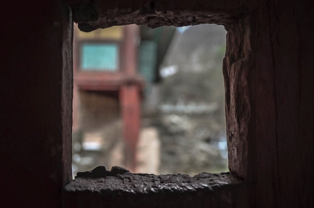 Through a Window Hole at Songgwangsa, Suncheon