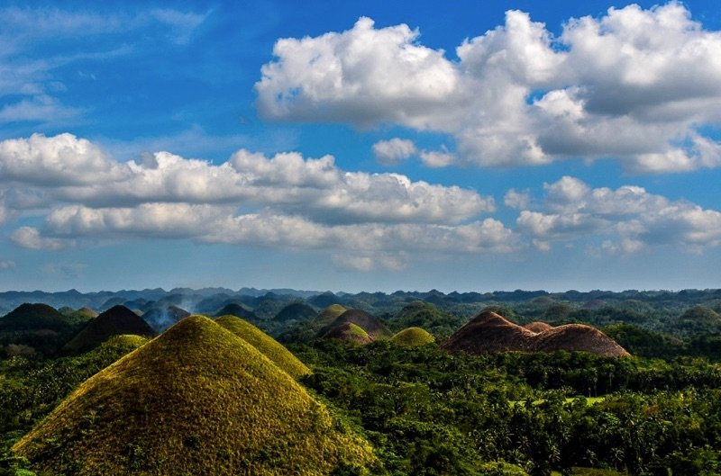 View of Bohol's Chocolate Hills from Above