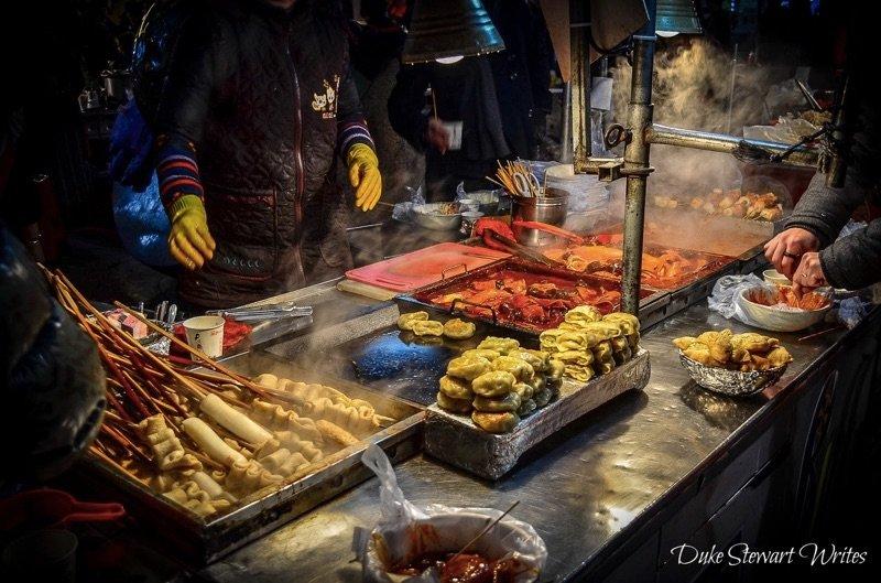 Street food in Busan Nampo Dong Korea