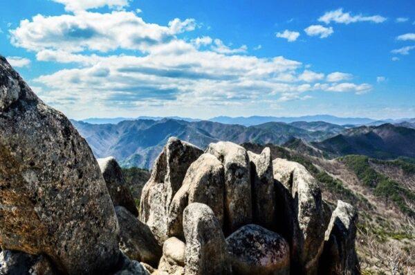 South Korea Gayasan National Park Namsanjeilbong Peak