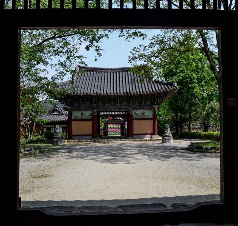 Walking inside Songgwangsa's Entrance, Wanju South Korea