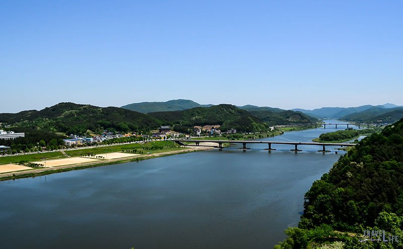 Image of Geum River from Gongju Fortress South Korea
