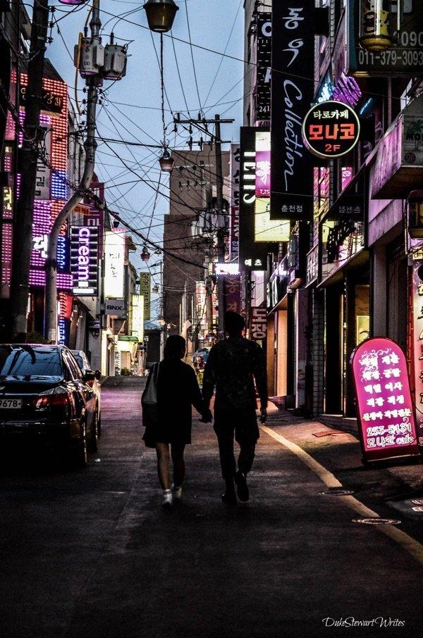 Searching for Dak Galbi Street in Chuncheon, South Korea