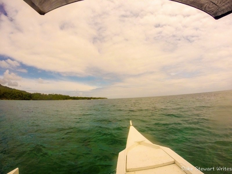 On a boat in Bohol