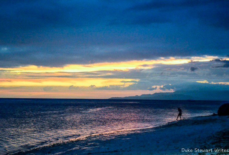 Sunset in Anda, Bohol in the Philippines