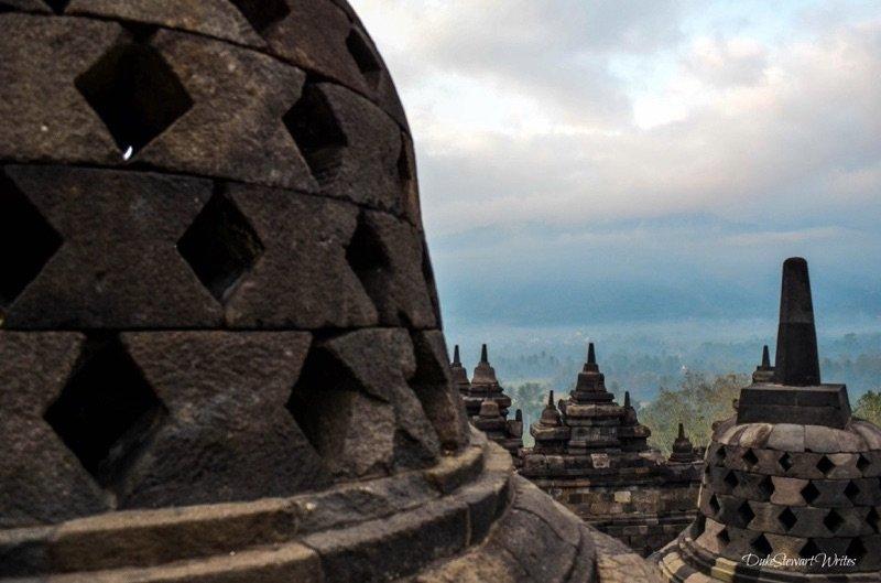 Borobudur Stupas Up Close