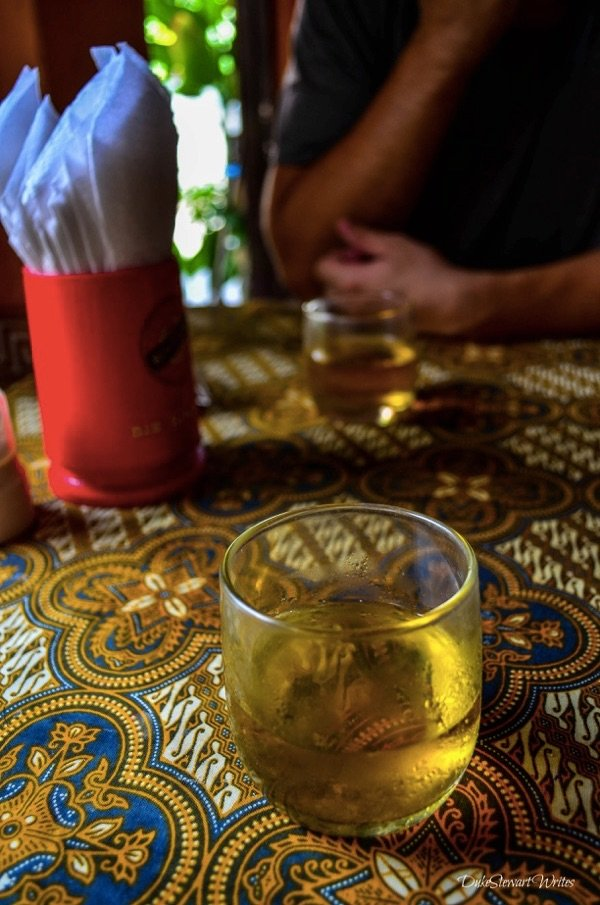 Jasmine Tea keeps me going in Yogyakarta, Indonesia