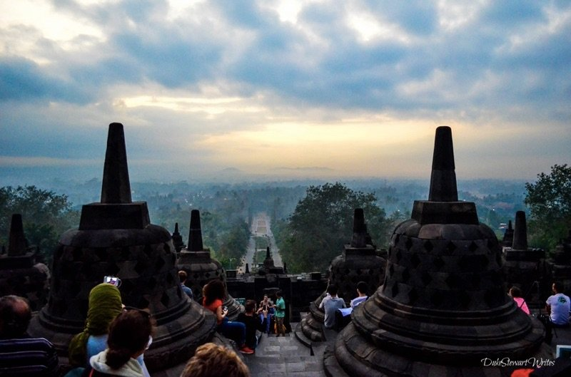 Party at Borobudur for the Sunrise, Indonesia