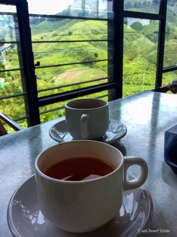 Tea with a view at the Cameron Highlands, Malaysia