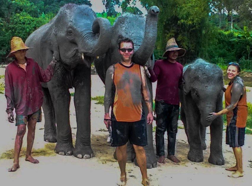 Final pics before leaving the Elephant Retirement Park near Chiang Mai, Thailand