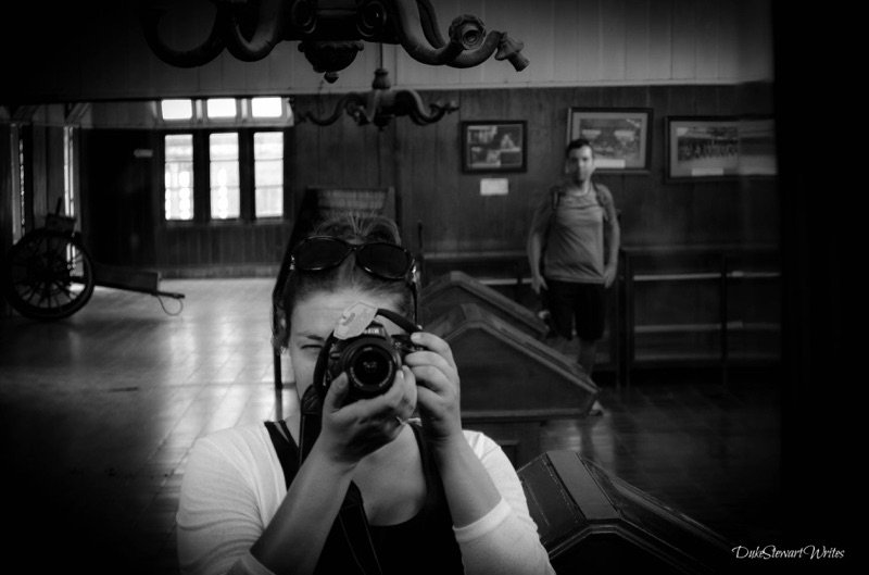 B & W inside Yogyakarta's Fake Kraton