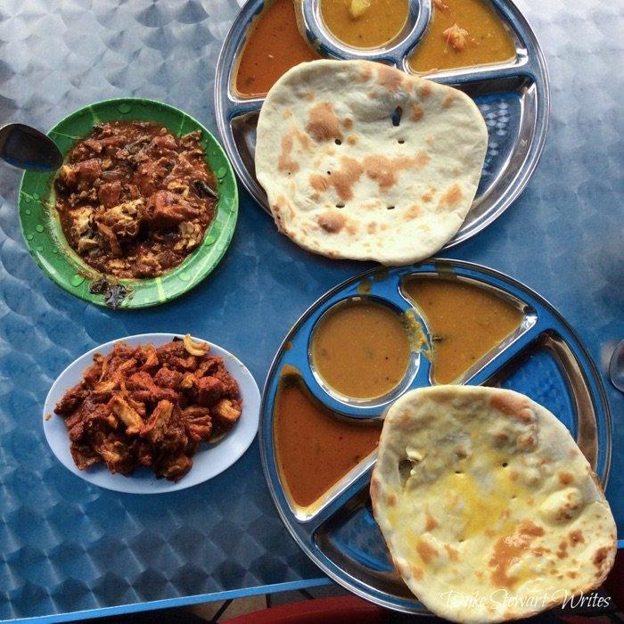 Curry and Nan in Malaysia