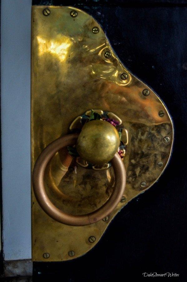 Doorknobs inside the Kraton in Yogyakarta, Indonesia