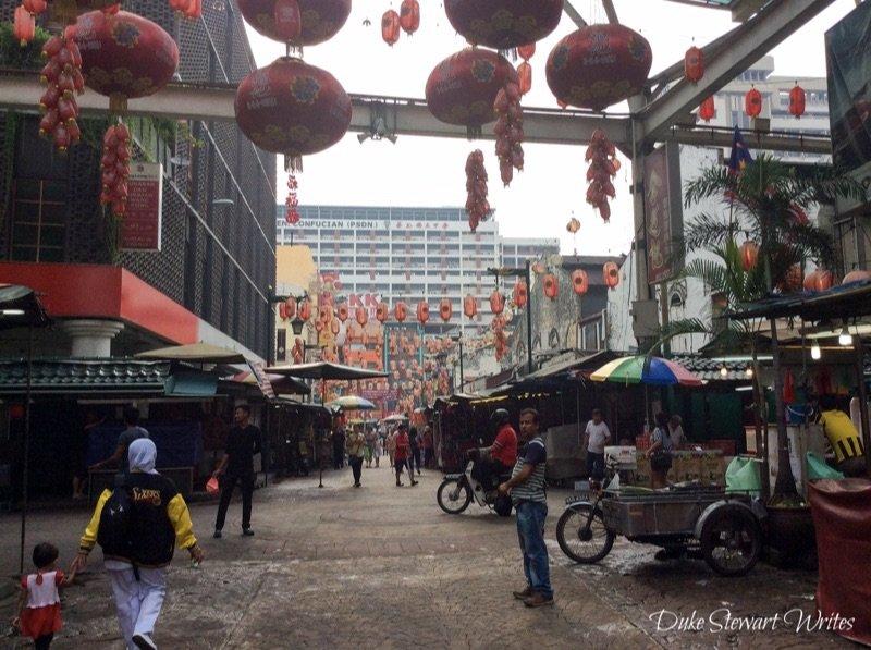 Early morning scenes in Kuala Lumpur's Chinatown, Malaysia