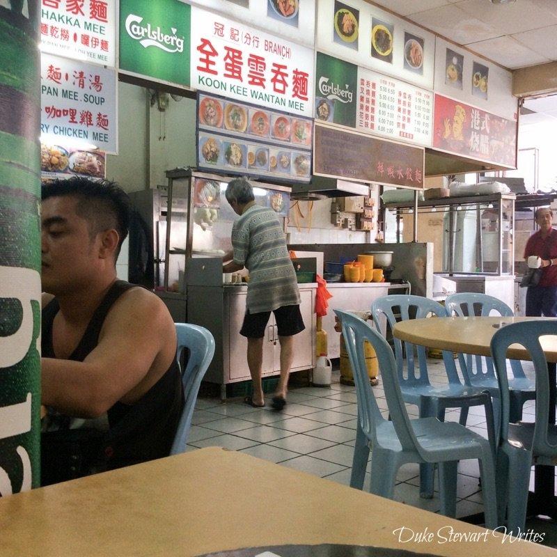 Food stalls in Kuala Lumpur's Chinatown, Malaysia
