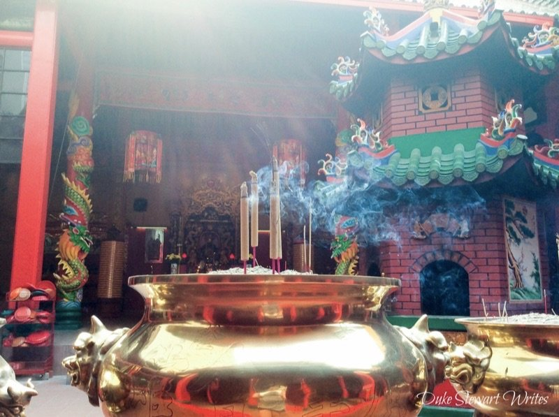 Temple inside Chinatown in Kuala Lumpur, Malaysia