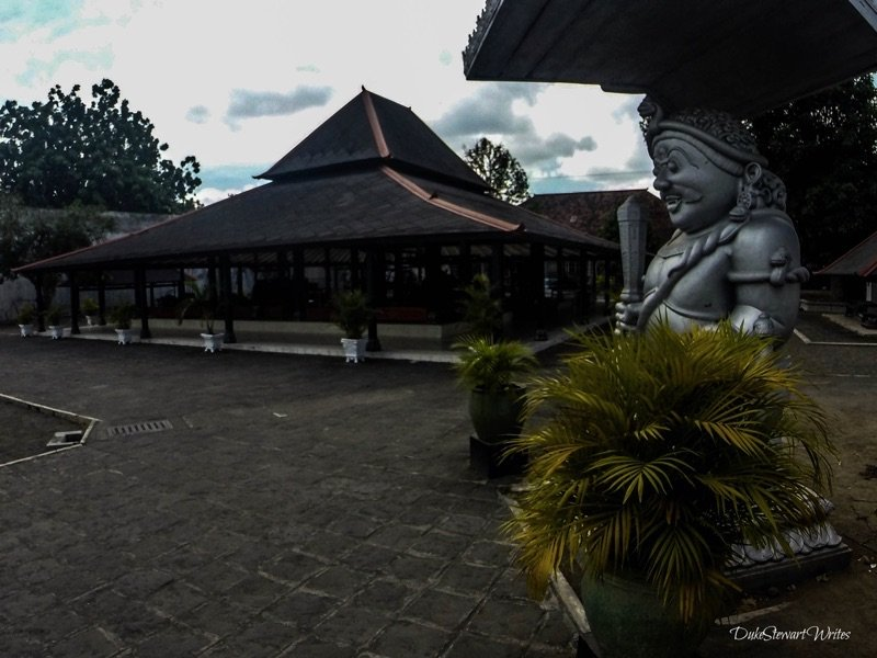 At the Kraton Main Hall Entrance Gate, looking back.