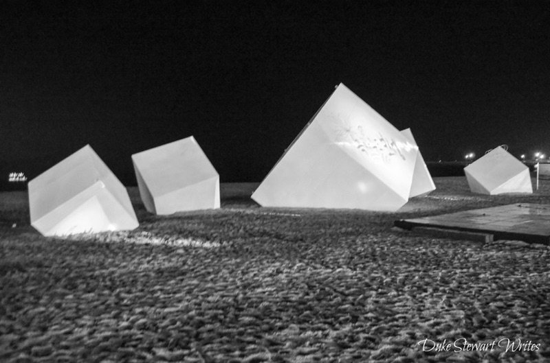 Cubes at Yulpo Beach in Boseong, South Korea