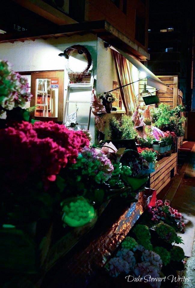 Flower Shop near the Gembaku Dome in Hiroshima, Japan