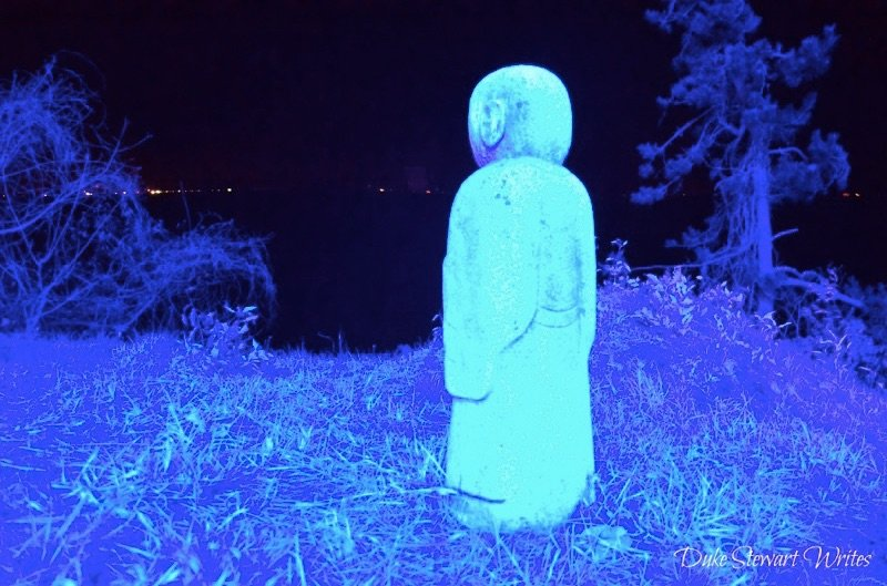 Mini Buddha Statue inside the Boseong Green Tea Plantation Light Festival