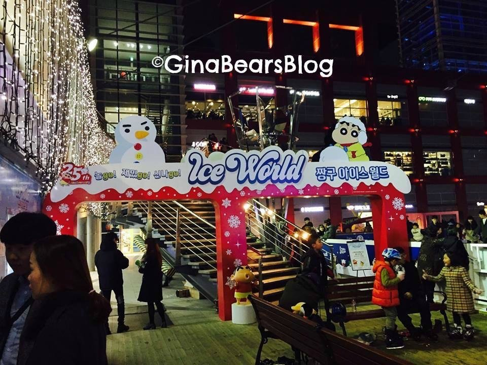 Winter Lights and Yongsan Ice World in Seoul, South Korea