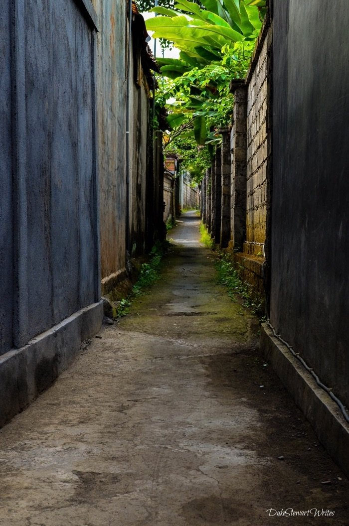 Alley in Bali Indonesia