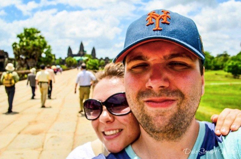 Angkor Wat behind us