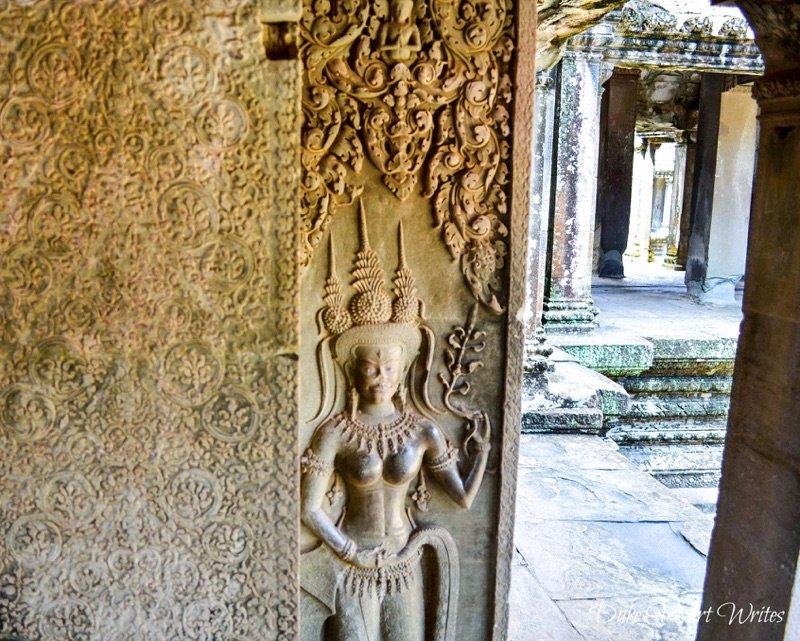 Angkor Wat devata inside a gallery