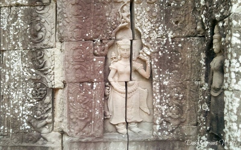 Aspara Carving at Ta Som near Angkor in Cambodia