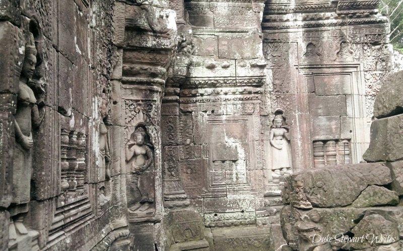 Aspara Carvings at Ta Som near Angkor in Cambodia