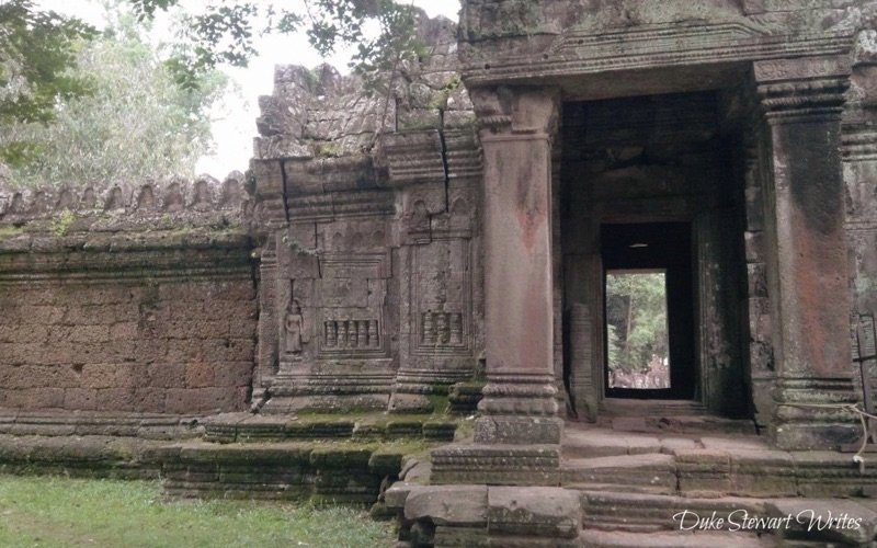 Doorway inside the Preah Khan Complex near Angkor, Cambodia