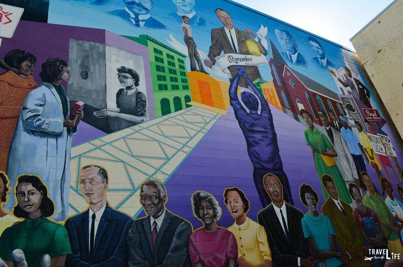 Downtown Durham NC Civil Rights Mural