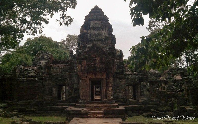 Entrance door to Ta Som near Angkor in Cambodia-1