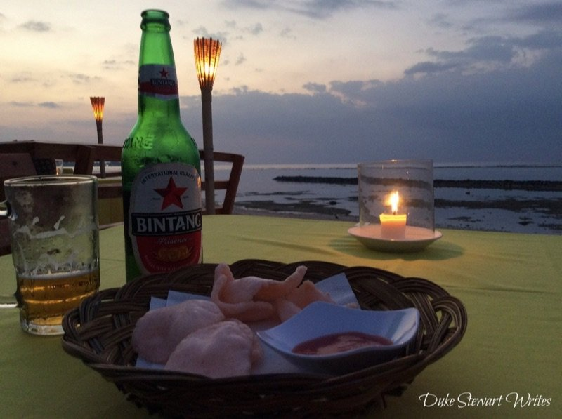 Gili Air Chill Out for Dinner at Sunset