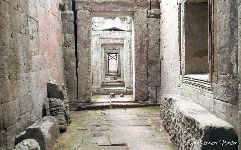 Hallway at Preah Khan near Angkor, Cambodia