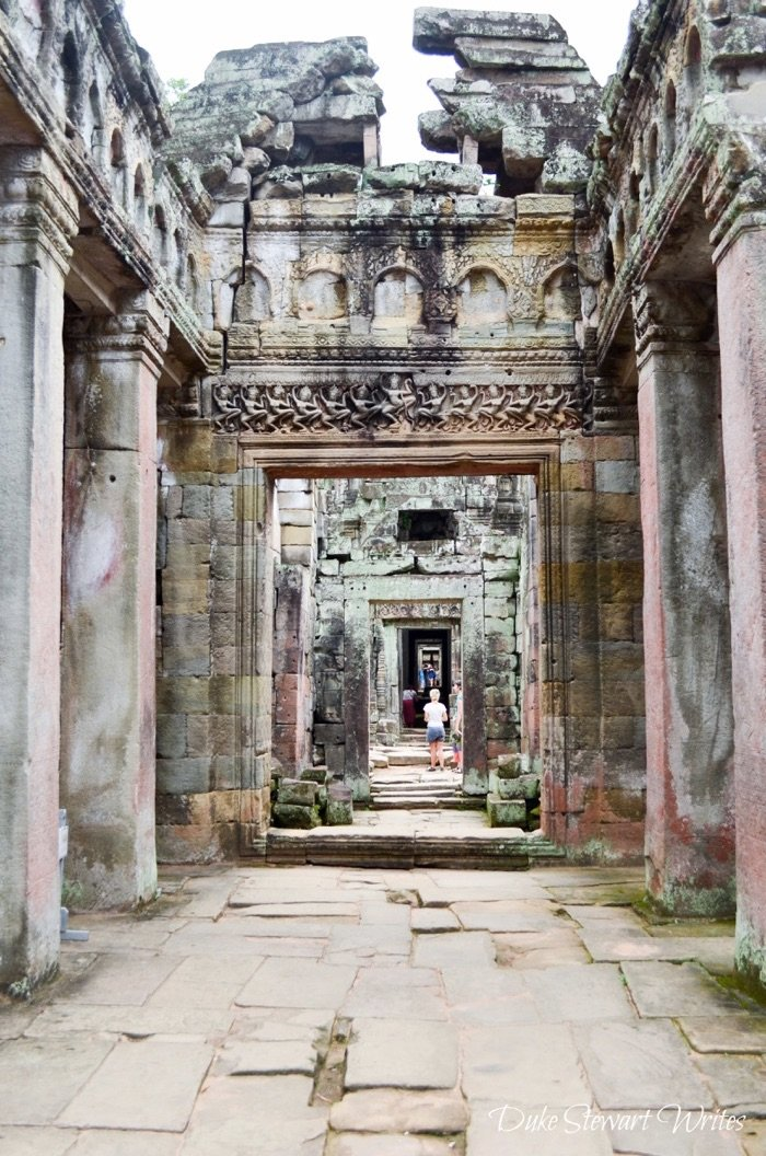 Hallway inside the Preah Khan Complex near Angkor, Cambodia