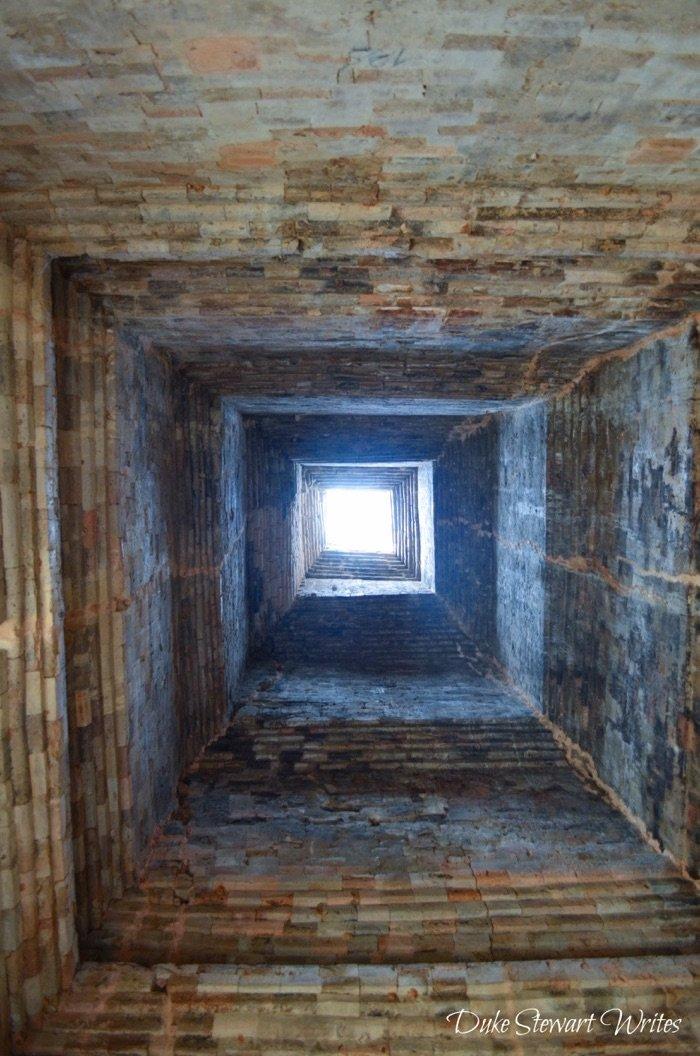 Inside a hall of Pre Rup - Angkor
