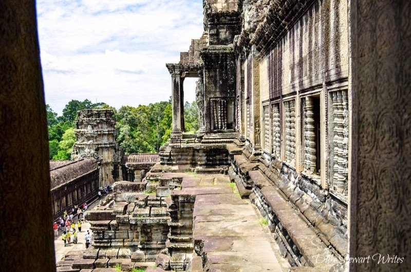 Last shot before descending back down out of Angkor Wat