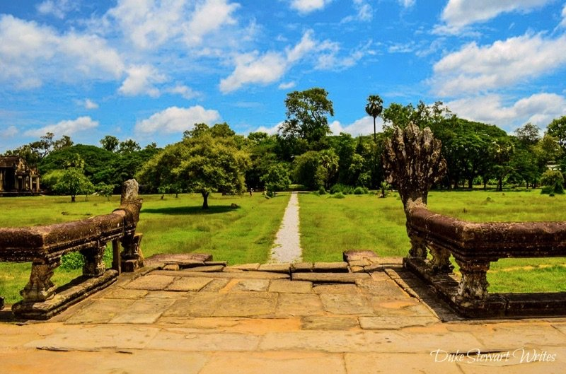 Looking to the west Angkor Wat