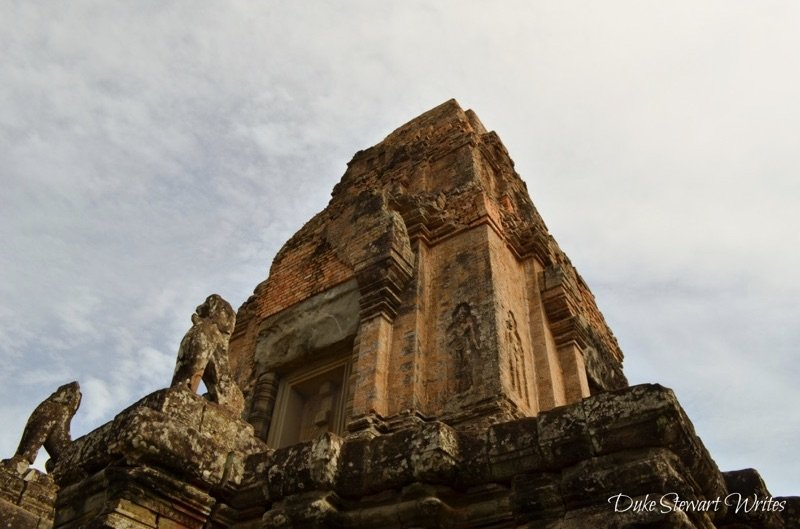 Looking up on the steps of Pre Rup, Angkor