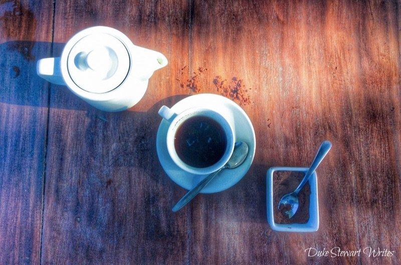 Morning Lombok Coffee on Gili Air, Indonesia