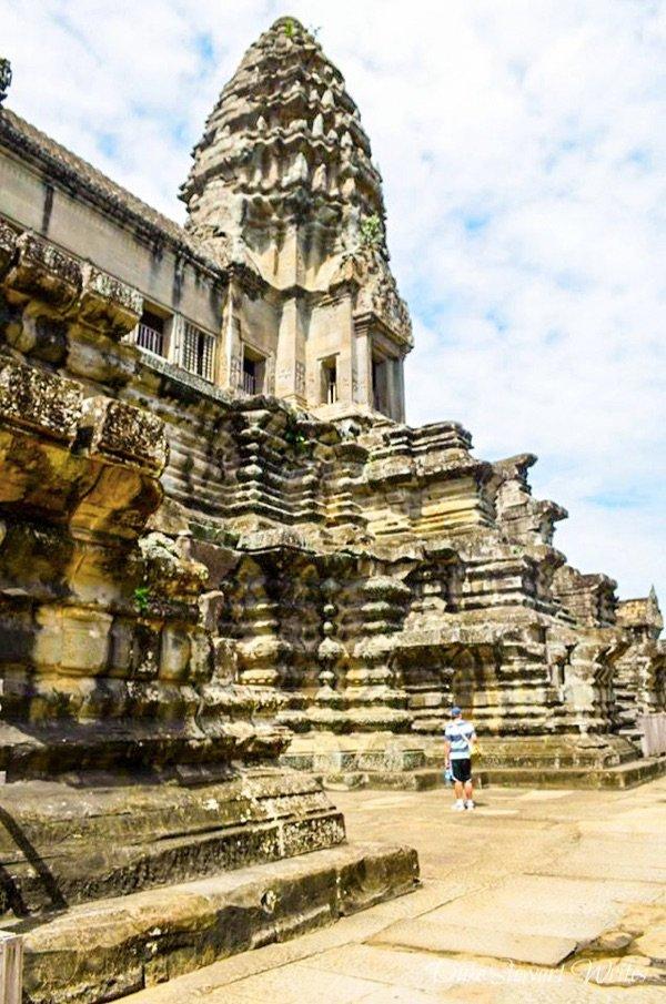 Outside the main Angkor Wat temple