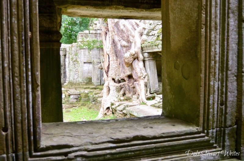 Photo from inside a Hallway at Preah Khan near Angkor, Cambodia