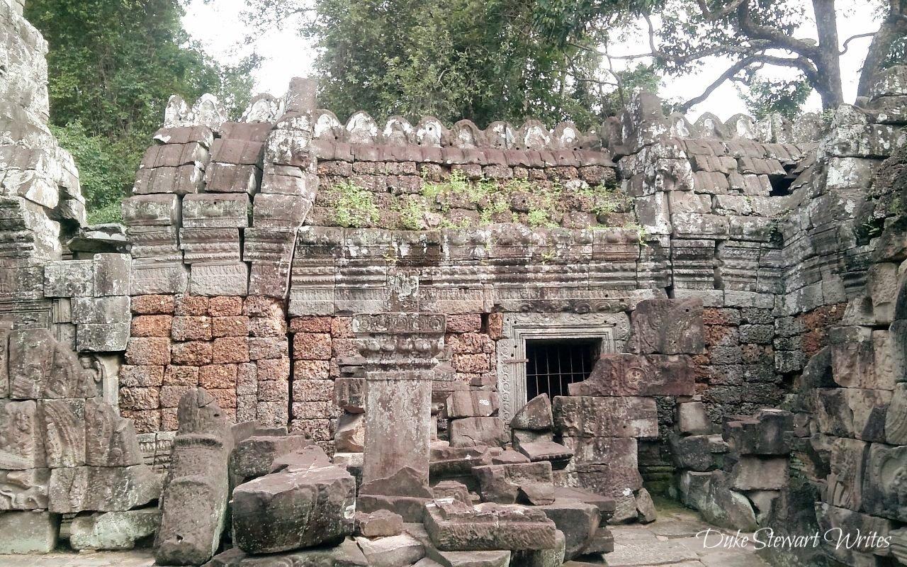 Remaining Stones at Ta Som near Angkor in Cambodia