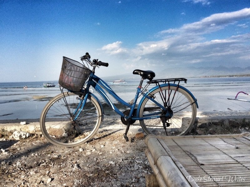Riding a Bicycle on Gili Air
