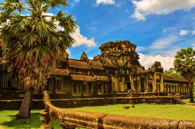 Shot of the outer wall at Angkor Wat